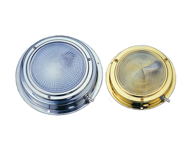 Dome Light, Stianless Steel or Lacquered Brass