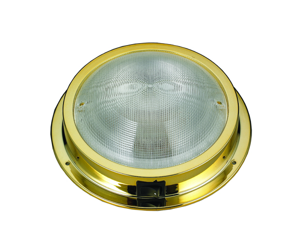LED Dome Light, Gold Plated Plastic