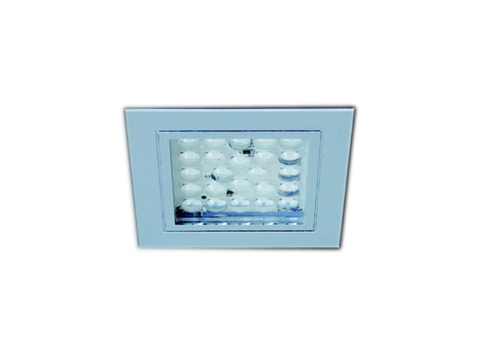 LED Ceiling Light, Recessed Mount, IP44, Square