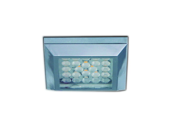 LED Ceiling Light, 12VDC, Surface Mount, IP44, Square