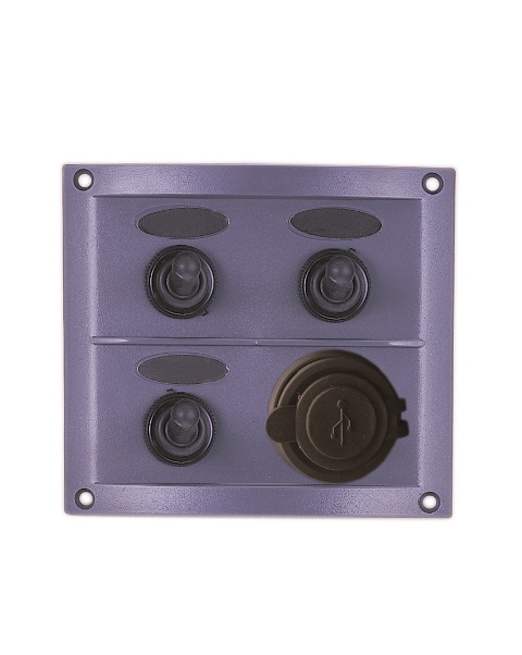 Waterproof Switch Panel with USB Charger