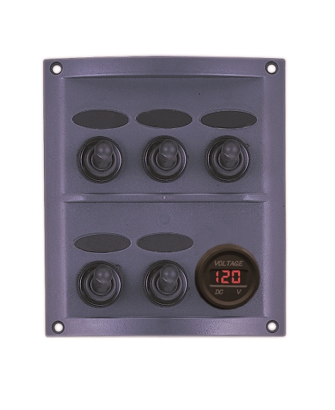 Waterproof Switch Panel with Digital Volt Meter