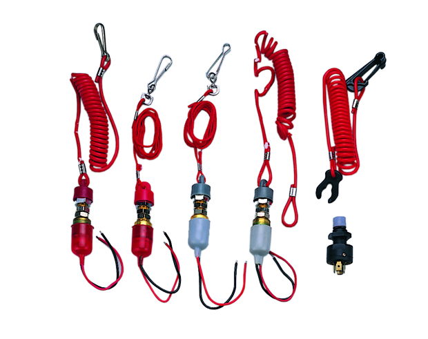 Kill Switch, w/Coil or Rope Lanyard