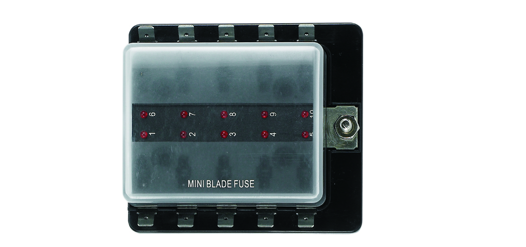 Micro Blade Fuse Holder, w/LED Indicator Lamps